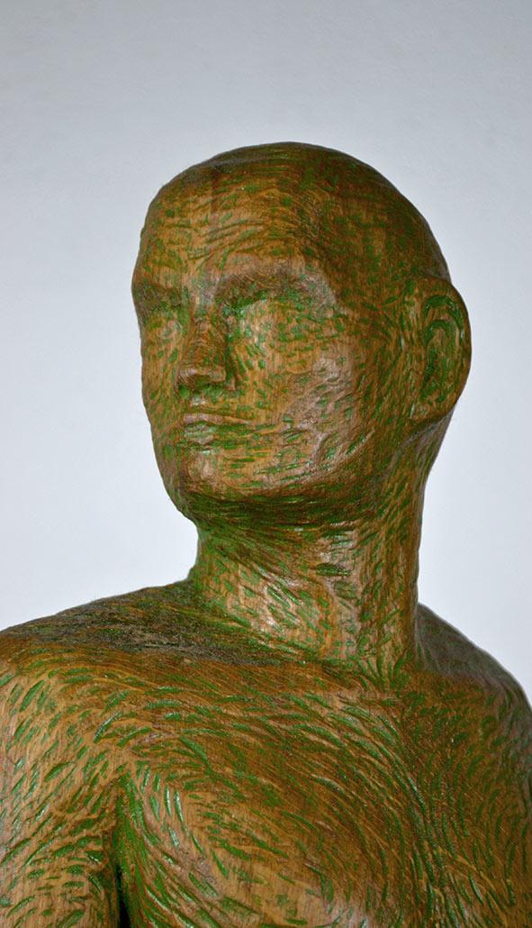 Homo Sapiens, 2013, Eichenholz, Höhe ca. 80cm